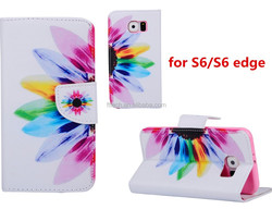 Tablet case Dandelion pu folio leather case for Samsung galaxy S6 super slim fit