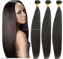 Aliexpress hot selling straight Machine wefted remy human hair weaving