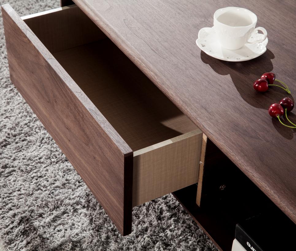 Moderne walnoot kleur houten cafe tafel woonkamer meubels ...