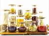 Haonai designed bulk storage glass jar with cork lid