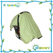 Soft Minky and Cotton Surface Baby Mose Basket Canopy