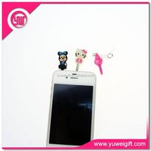 Mobile phone accessories cute headphone dust plug