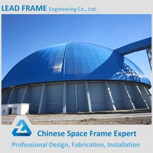 Light Weight Steel Dome Space Frame Storage Building System