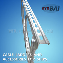 Manufacture ISO9001 GI Cable tray ship building ladder type cable tray Aluminum Ladder for ship
