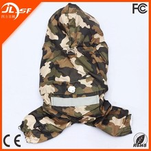 Double-Deck Light and Thin Fabric Waterproof Dry Quickly Four Legged Pet Rain Coat with XS-XXL Sizes