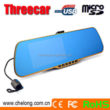 Chelong Factory sale 5.0nch dual camera 120deg 6G A+ car rearview mirror camera dual lens