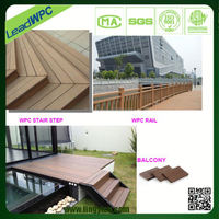 fireproof inflaming retarding wpc wood synthetic outdoor flooring
