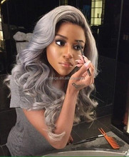 New Fashion Trend Carefree Silk Top Wig 100% Human Virgin Hair Body Wave Anti Gray Good Quality Full Lace Wig