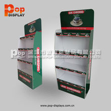 stable floor stable corrugated paper Display coffee retail merchandising stand