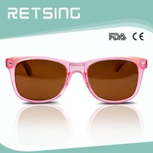 2015 women high quality UV400 polarized TAC lens wood bamboo temples branded sunglasses