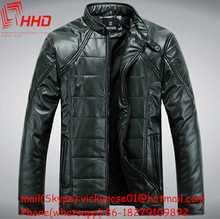 2015 hot selling 100% cotton high quality cowhide leather coats mens leather coats with the competitive price for sale