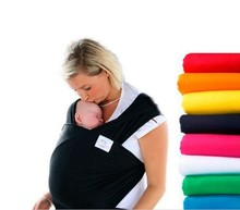 Hot selling baby comfortable cotton muslin wraps Many colors Classic Baby Carrier Wrap