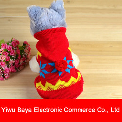 Hot Sale Pet Dog Puppy Wear Warm Autumn Winter Sweater With Two Foots And Hat BY-110