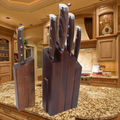 Inmejorable 5 unids cuchillo de cocina con bloque de madera