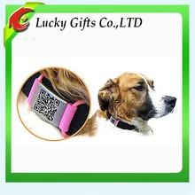 2015 Wholesale Custom QR Code Silicone Dog Tag