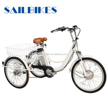 aluminum battery operated adult tricycle with strong frame