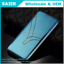 official intelligent plating mirror leather phone case for samsung s6 edge plus / note 5