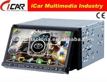 NEW/HOT Double Din 7'' touch screen,GPS, Bluetooth, TV, PIP, IPod, 3D UI 7 inch car dvd player