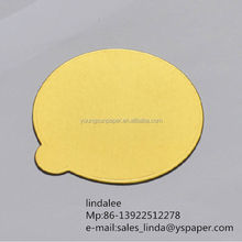 1mm customised paper&paperboards golden decorative cake boards