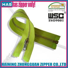 HAS number 3 metal zipper shiny silver teeth bag slider zipper no.3 high polished zipper