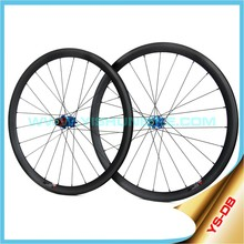 Yishunbike 2015 700c carbon disc brake bicycle wheel with 33mm/55mm/88mm Clincher rims