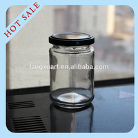 Factory direct glass jar with metal lid