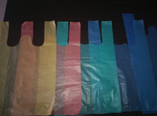 T-shirt plastic shopping bag different color customized