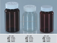 Silk Screen Printing Health Care Round PET 250ML Clear Plastic Bottle