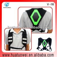 LED reflective back support belts