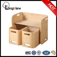 Multifunction Wooden bent wood Table And Two Chairs for kids Study Furniture