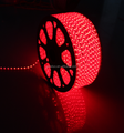Alta tensão linha dupla 3528 220v conduzidas luz fita vermelho 120smd/m