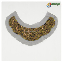 ldies new design fashion accessories sew on cheap african hand beaded collar necklace