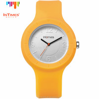 Women fashion hand watch Silicone Watch Interchangeable plastic case Stainless Steel Back Quartz wrist Watch InTimes IT-092