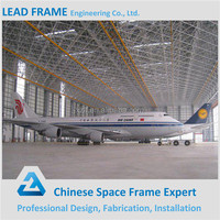 Steel Structure Space Frame Building Arched Prefabricated Aircraft Hangar Manufacturer