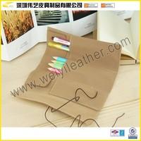 Innovative School Leather Gift Pen Bag Sublimation Pencil Case