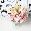 Artificial soft pu decoration flower lily for arrangements