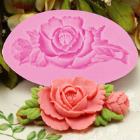 2015 New Cooking Tools Cake Tools Rose Silicone Fondant Cake Chocolate Mold Craft Decorating Tools Mould