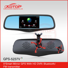 Touch Screen Rearview Camera Mirror For Ford Ranger 2012 with GPS Navigation, MP4, FM Transmitter, Different Car Bracket