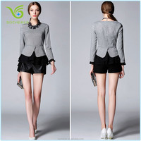Latest fancy design sexy office lady blouse T-shirts