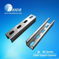 Perforated Steel Strut Channel C Shape & U Shape (UL, CE, cUL, NEMA, ISO9001)