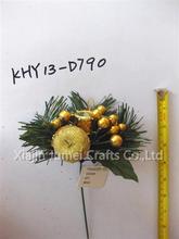 vendita calda natale decorativi fatti a mano raso di poliestere nastro fiore per accessori per abbigliamento