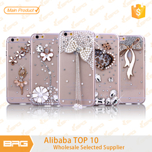 Best Fancy Decorative Bling Diamond Case for iPhone 6,Handmade Pearl Rhinestone Cover for iPhone 6,for iPhone 6 Diamond Case