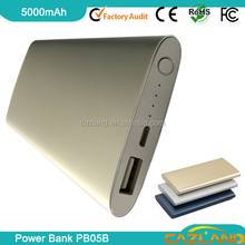 2015 nenew products 5000mah high quality mobile power bank for microsoft