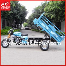 Fashionable Blue Color 250cc Tricycle Air-cooled Engine Trike For 800Kgs Loading Capacity