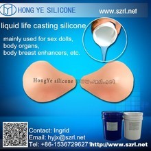life cating soft silicone rubber, breast silicone rubber,silicon for medical