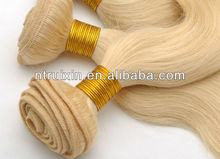 2013 hot sale 100% remy brazilian hair,full culticle,613# blond hair weaving,8inch-28inch available