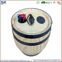 High Quality Handmade Wooden Whiskey Barrels For Sale, Wooden Oak Paulownia Pine Wine Whiskey Barrels For Sale