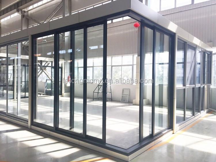Commercial Aluminum Corner Sliding Door 3 Sashes U0026 2 Passed