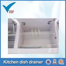 Prateleiras de madeira armário de cozinha dish drainer