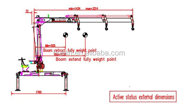Hydraulic Boom Joint : Ton knuckle boom hydraulic arm crane for trucks sq za